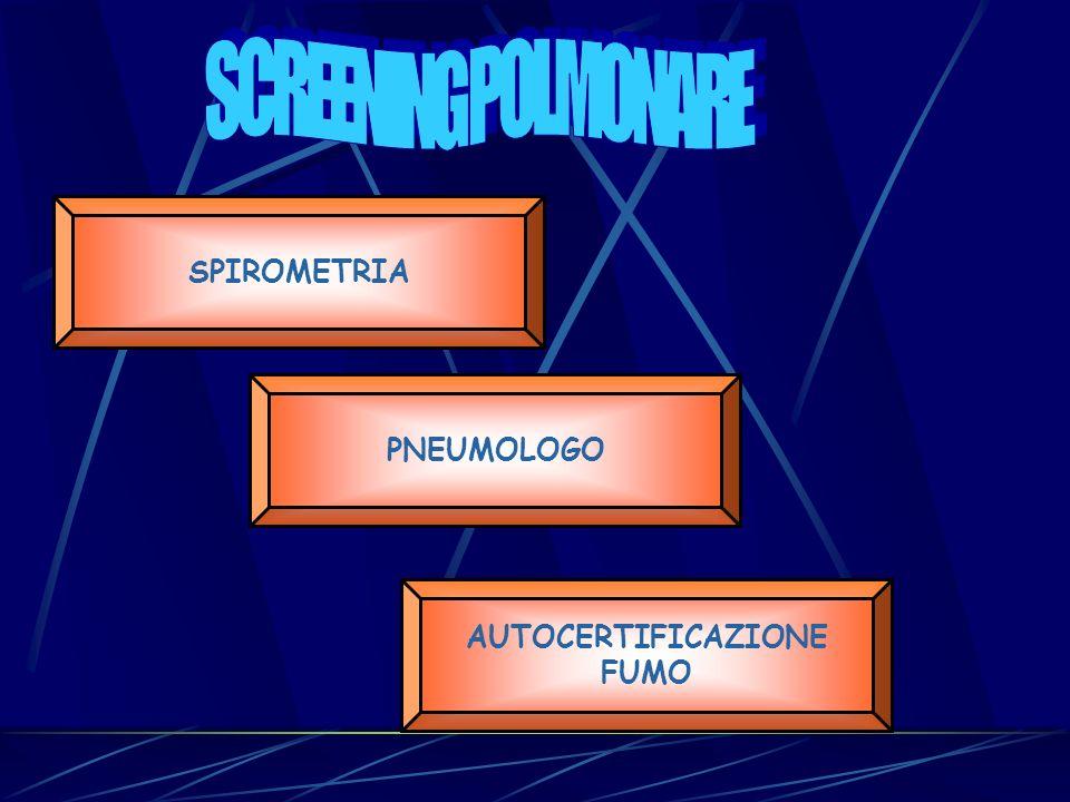 PNEUMOLOGO SPIROMETRIA AUTOCERTIFICAZIONE FUMO