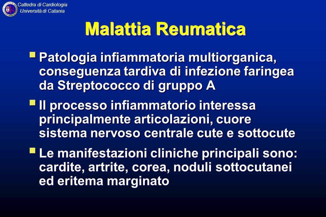 Cattedra di Cardiologia Università di Catania INSUFFICIENZA MITRALICA Fisiopatologia Lalterata sovrapposizione dei lembi valvolari mitralici determina, durante la sistole, un rigurgito attraverso lorifizio.
