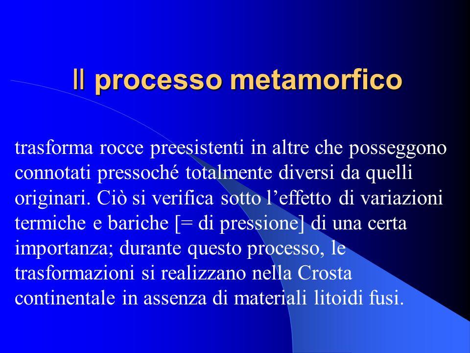 Il processo sedimentario implica la formazione di rocce in ambienti in cui la temperatura e la pressione sono quelle che si realizzano nella superfici