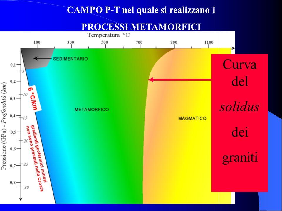 DEFINIZIONE di METAMORFISMO Insieme dei processi attraverso i quali la struttura e la mineralogia di una roccia vengono modificate, essenzialmente in
