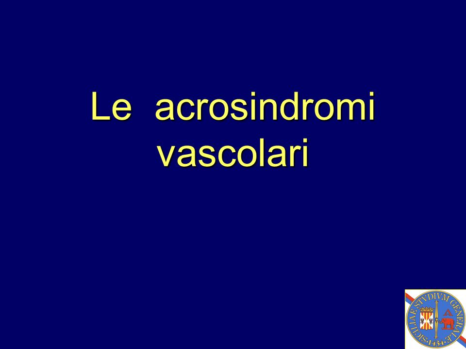 Le acrosindromi vascolari