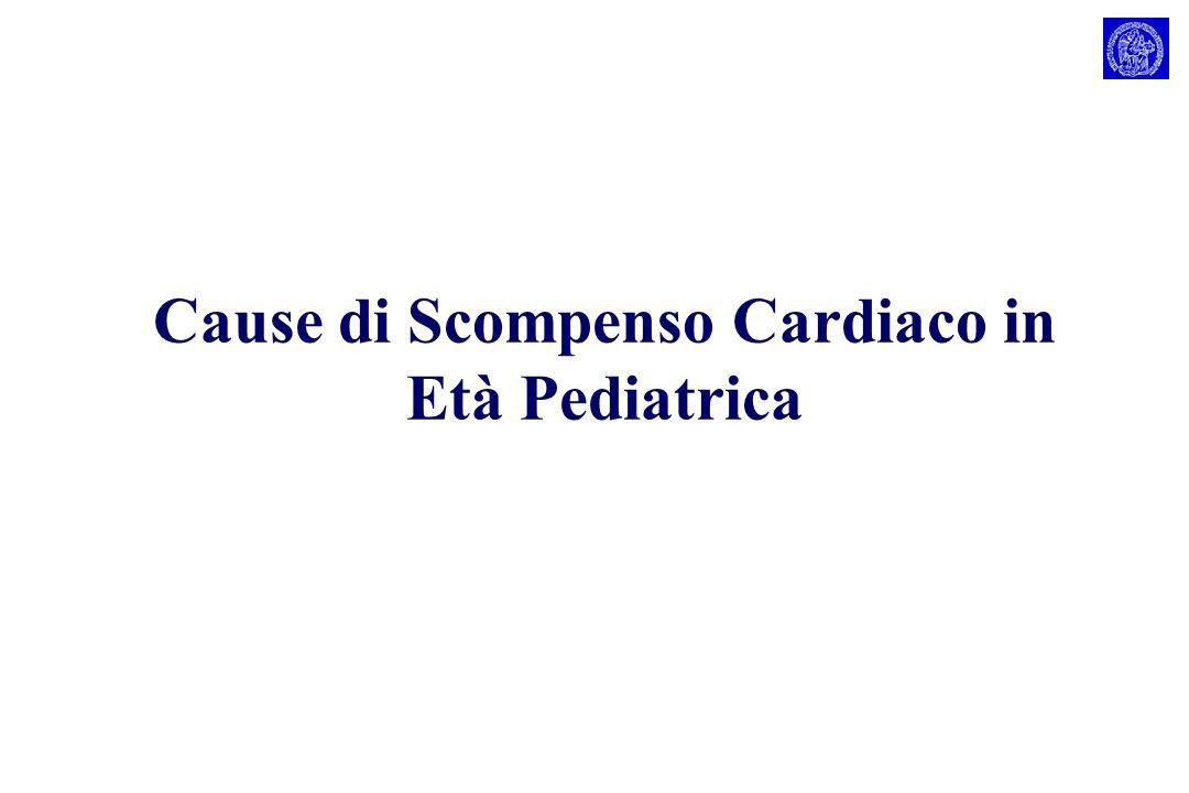 Cause di Scompenso Cardiaco in Età Pediatrica