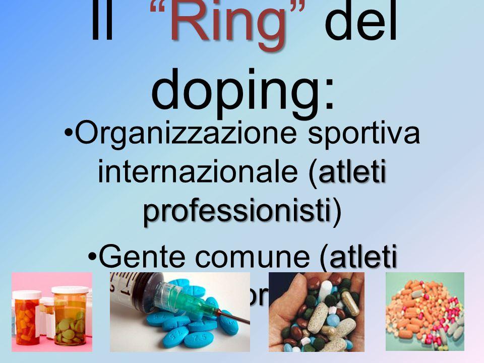 Ring Il Ring del doping: atleti professionistiOrganizzazione sportiva internazionale (atleti professionisti) atleti amatorialiGente comune (atleti ama