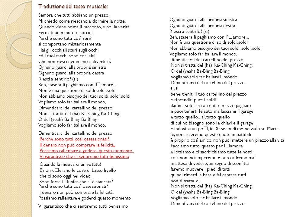Traduzione del testo musicale: Sembra che tutti abbiano un prezzo, Mi chiedo come riescano a dormire la notte. Quando viene prima il racconto, e poi l
