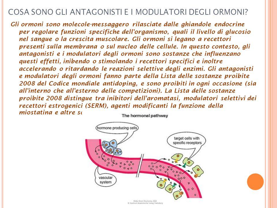 COSA SONO GLI ANTAGONISTI E I MODULATORI DEGLI ORMONI? Gli ormoni sono molecole-messaggero rilasciate dalle ghiandole endocrine per regolare funzioni