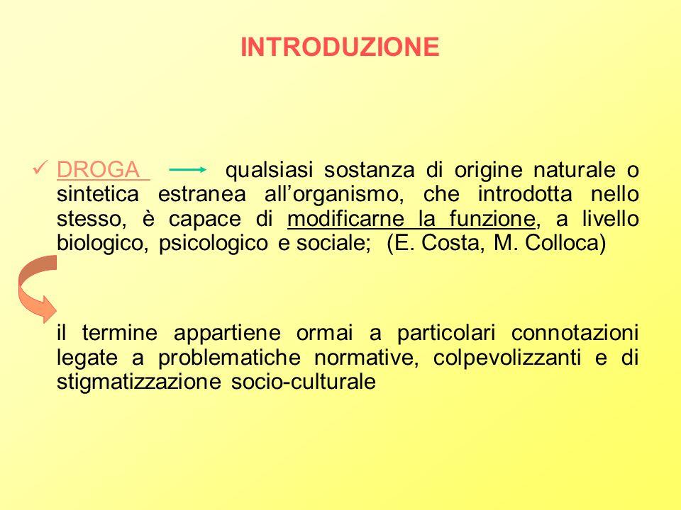 MODALITA DI INTERVENTO GIUDIZIARIO E TIPOLOGIE DI INTERVENTO DUE MODELLI CONTRAPPOSTI: interventi orientati alla RIABILITAZIONE SALUTE MENTALE GIUSTIZIA interventi di natura PENALE il dilemma tra riabilitazione e punizione si manifesta nella discrezionalità con cui viene esercitata lamministrazione della giustizia In Italia alternarsi di modelli punitivi o trattamentali, con laffermarsi attualmente di un MODELLO SOCIORIABILITATIVO TOSSICODIPENDENZA E CRIMINALITA