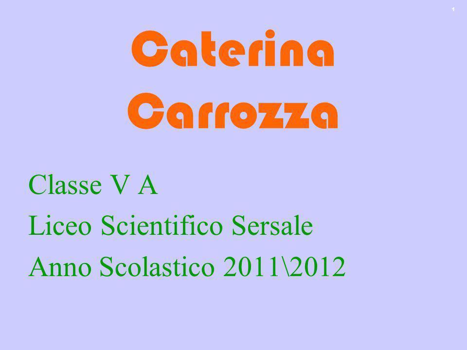 1 Caterina Carrozza Classe V A Liceo Scientifico Sersale Anno Scolastico 2011\2012