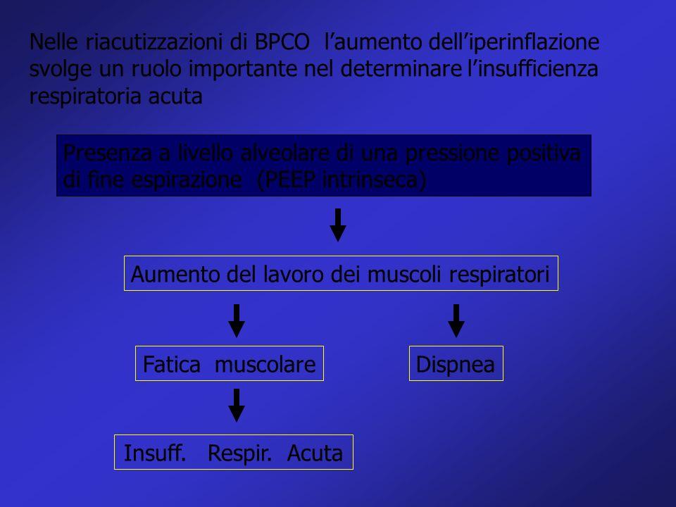 Nelle riacutizzazioni di BPCO laumento delliperinflazione svolge un ruolo importante nel determinare linsufficienza respiratoria acuta Presenza a live