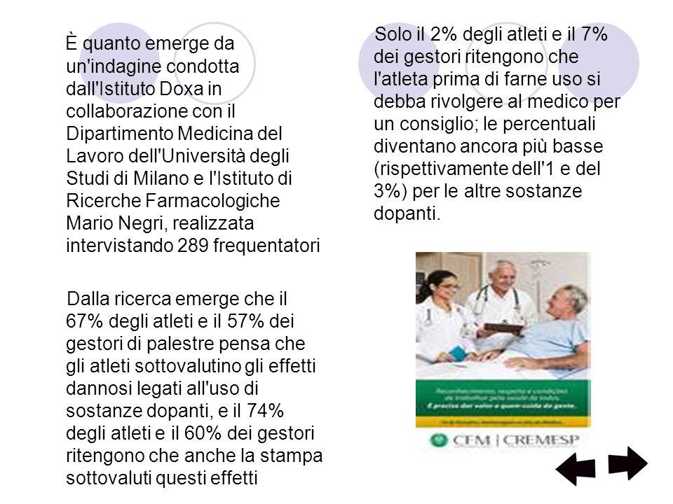 È quanto emerge da un'indagine condotta dall'Istituto Doxa in collaborazione con il Dipartimento Medicina del Lavoro dell'Università degli Studi di Mi