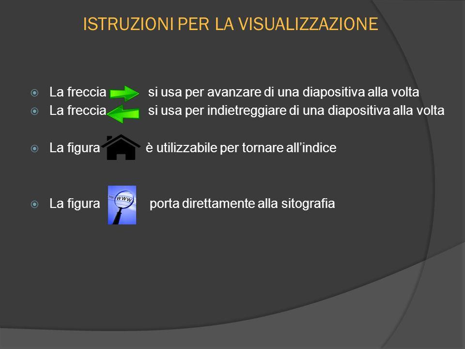 ISTRUZIONI PER LA VISUALIZZAZIONE La freccia si usa per avanzare di una diapositiva alla volta La freccia si usa per indietreggiare di una diapositiva
