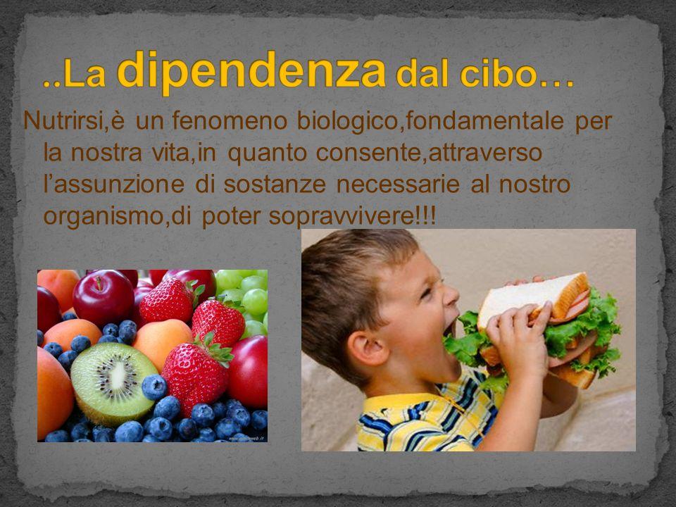 Nutrirsi,è un fenomeno biologico,fondamentale per la nostra vita,in quanto consente,attraverso lassunzione di sostanze necessarie al nostro organismo,