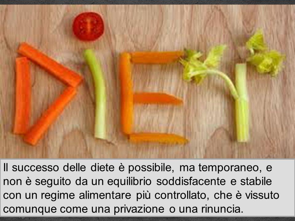 Il successo delle diete è possibile, ma temporaneo, e non è seguito da un equilibrio soddisfacente e stabile con un regime alimentare più controllato,