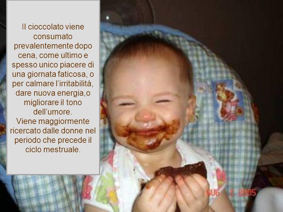 , PROPRIO COME LO SONO TUTTE LE ALTRE DIPENDENZE! Anche se poco conosciuta come dipendenza, fonti americane indicano che Il cioccolato viene consumato