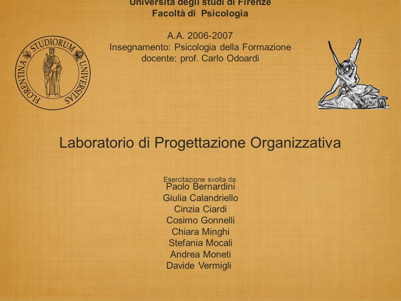 Università degli studi di Firenze Facoltà di Psicologia A.A.