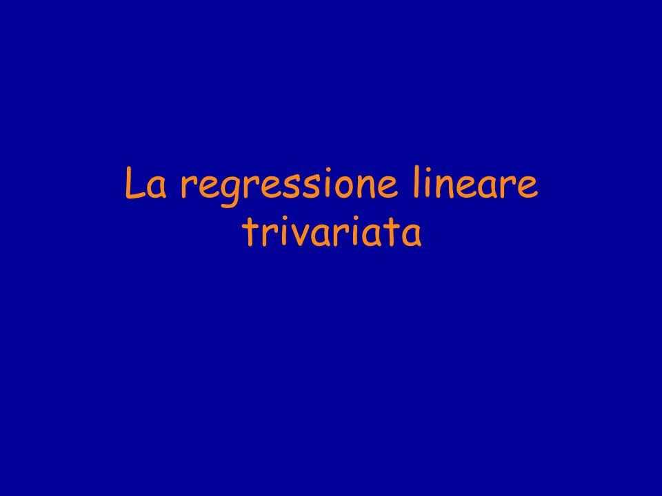La regressione lineare trivariata