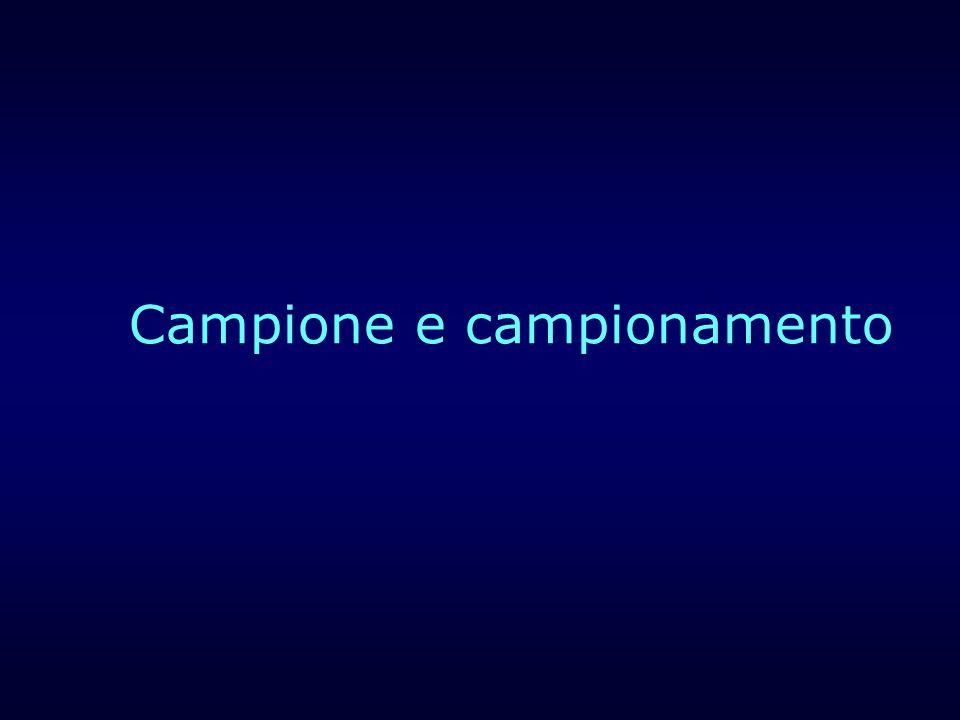 Campione e campionamento