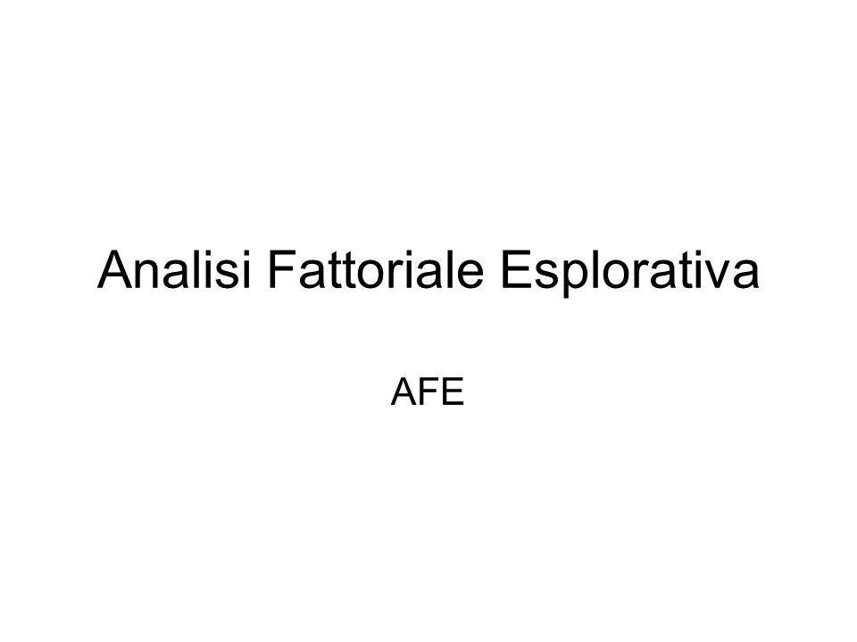 Analisi Fattoriale Esplorativa AFE