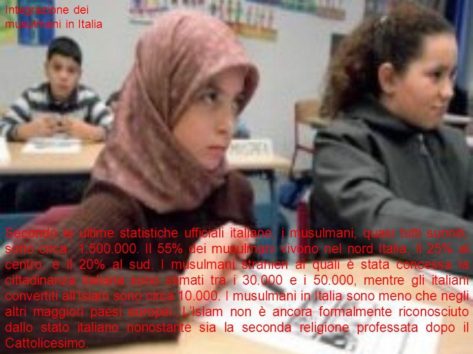 Secondo le ultime statistiche ufficiali italiane, i musulmani, quasi tutti sunniti, sono circa 1.500.000.