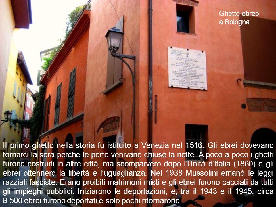 Il primo ghetto nella storia fu istituito a Venezia nel 1516.