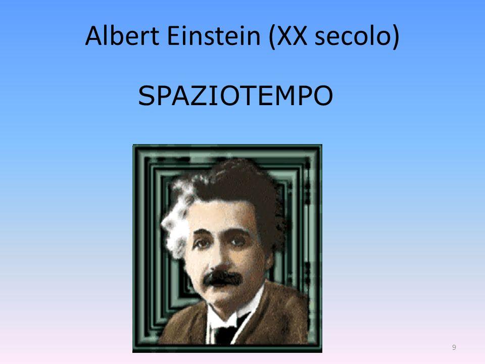 9 SPAZIOTEMPO Albert Einstein (XX secolo)