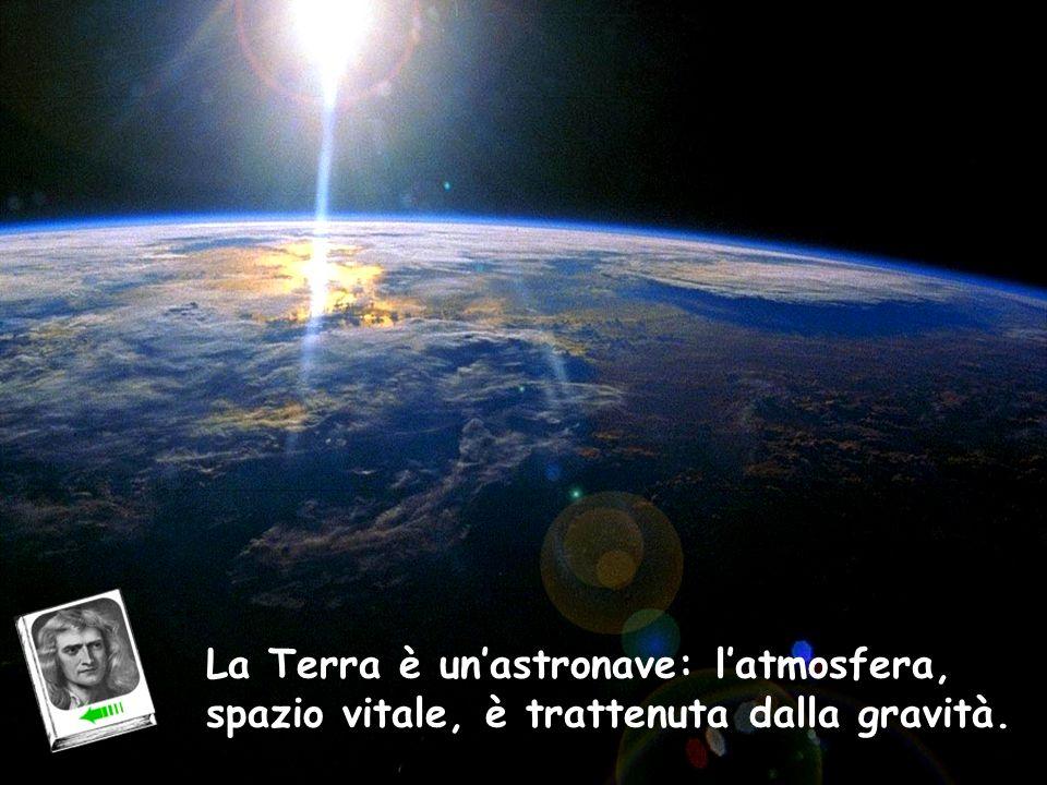 Atmosfera La Terra è unastronave: latmosfera, spazio vitale, è trattenuta dalla gravità.