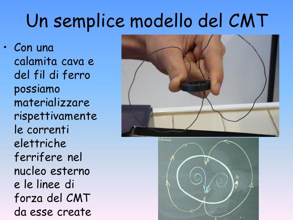 Un semplice modello del CMT Con una calamita cava e del fil di ferro possiamo materializzare rispettivamente le correnti elettriche ferrifere nel nucl