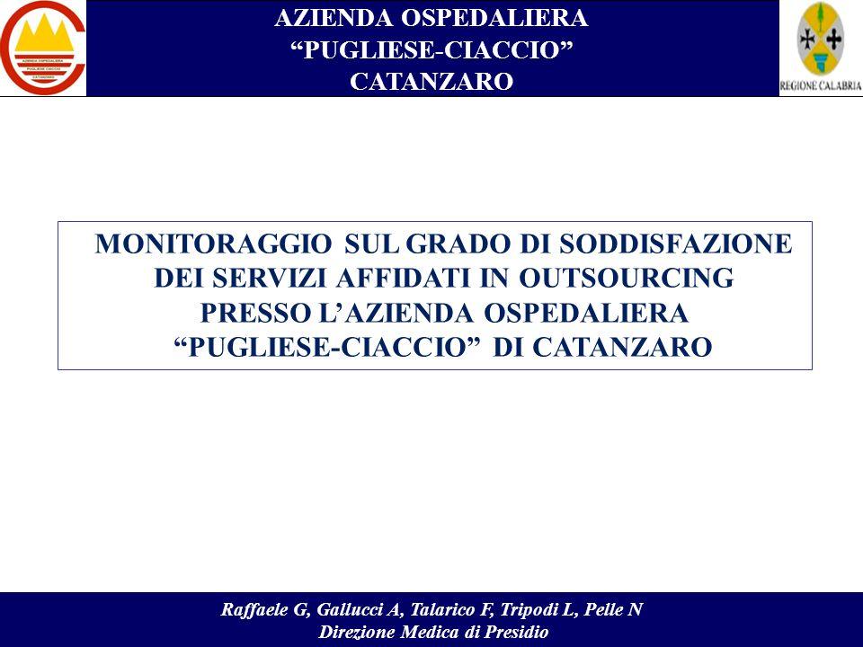 AZIENDA OSPEDALIERA PUGLIESE-CIACCIO CATANZARO Raffaele G, Gallucci A, Talarico F, Tripodi L, Pelle N Direzione Medica di Presidio MONITORAGGIO SUL GR