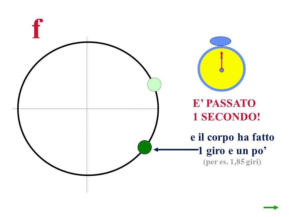 f E PASSATO 1 SECONDO! e il corpo ha fatto 1 giro e un po (per es. 1,85 giri) 1