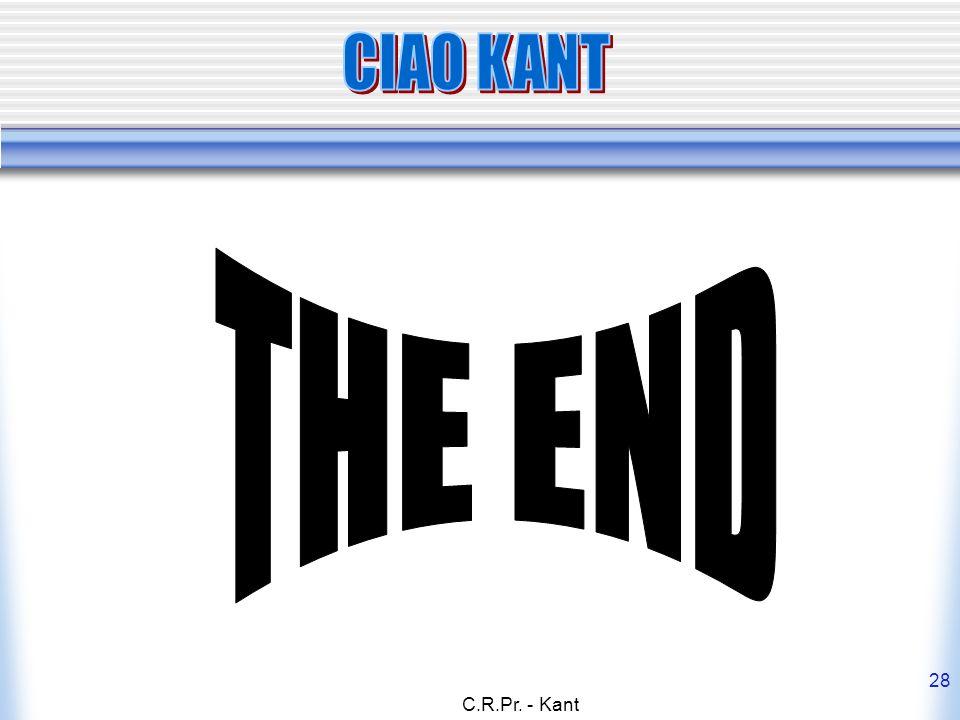 C.R.Pr. - Kant 28