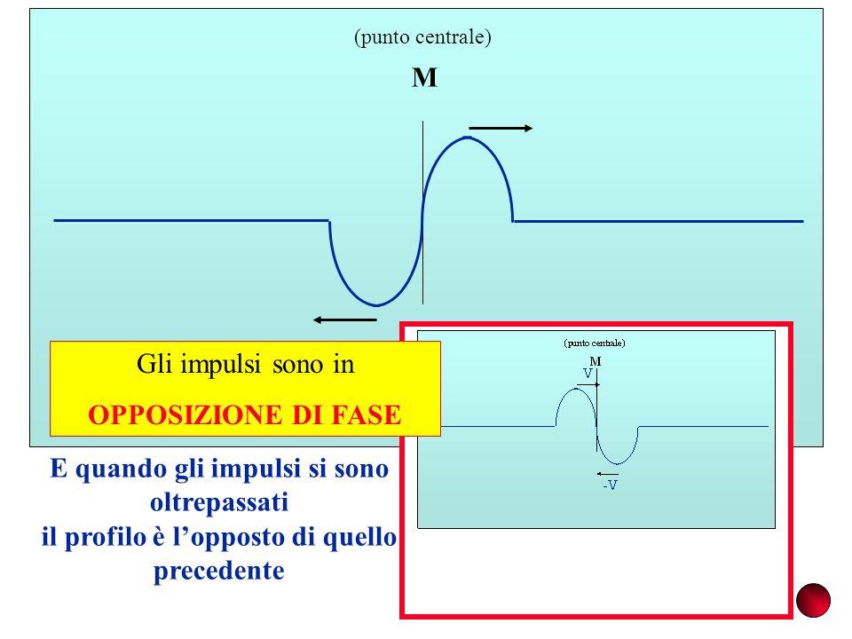 M E quando gli impulsi si sono oltrepassati il profilo è lopposto di quello precedente Gli impulsi sono in OPPOSIZIONE DI FASE