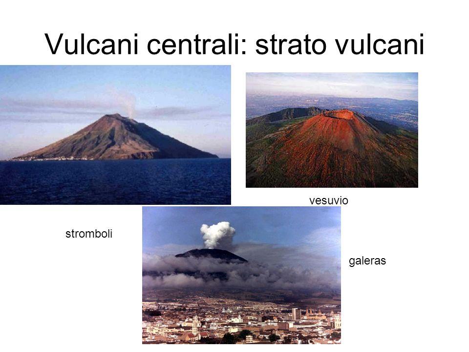 Vulcani centrali: strato vulcani stromboli vesuvio galeras
