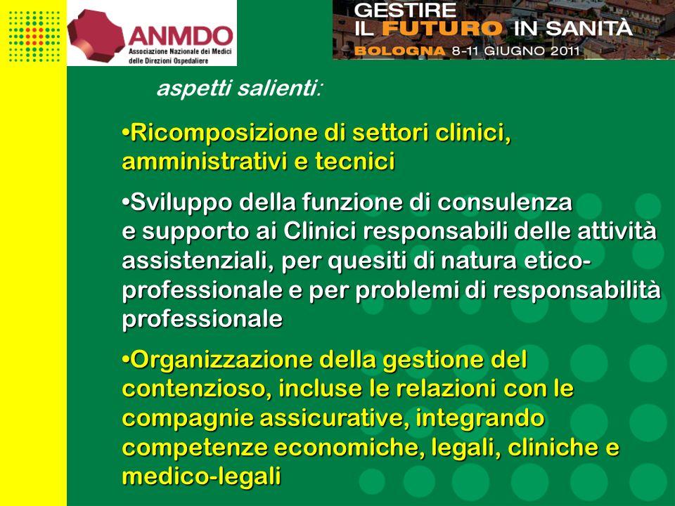 8 Lineamenti di strategia regionale La sicurezza delle cure è un diritto del paziente ed un requisito imprescindibile per unorganizzazione sanitaria