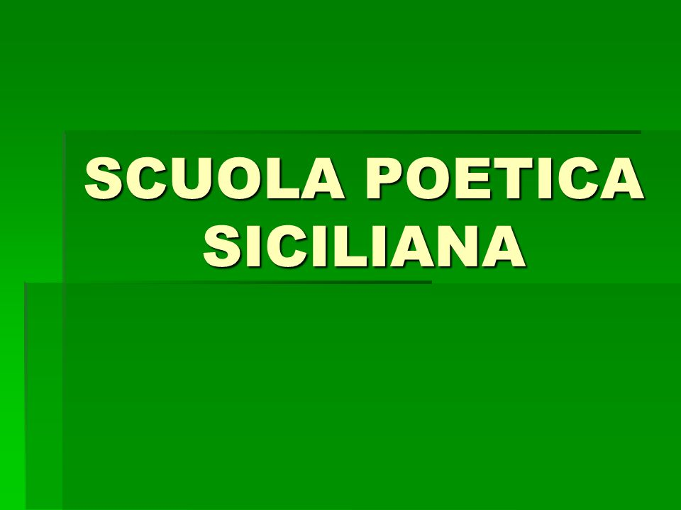 LA POESIA SICILIANA E LA POLITICA Nella produzione dellItalia del Nord in lingua dOc, largomento politico è in primo piano.