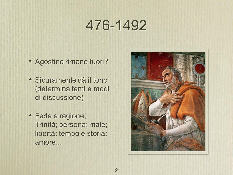 Questione degli universali Concettualismo di Abelardo (1079-1142) Luniversale non è né realtà né puro nome.