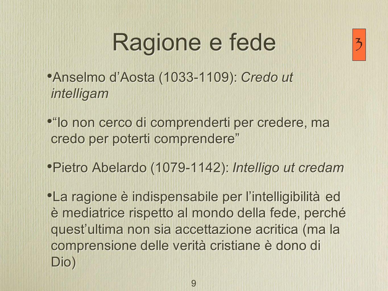 2) Questione degli universali [Concetti che esprimono gli aspetti universali delle realtà sensibili, degli individui (specie, generi, categorie)] Da Boezio (che commenta Porfirio): Esistono o no.