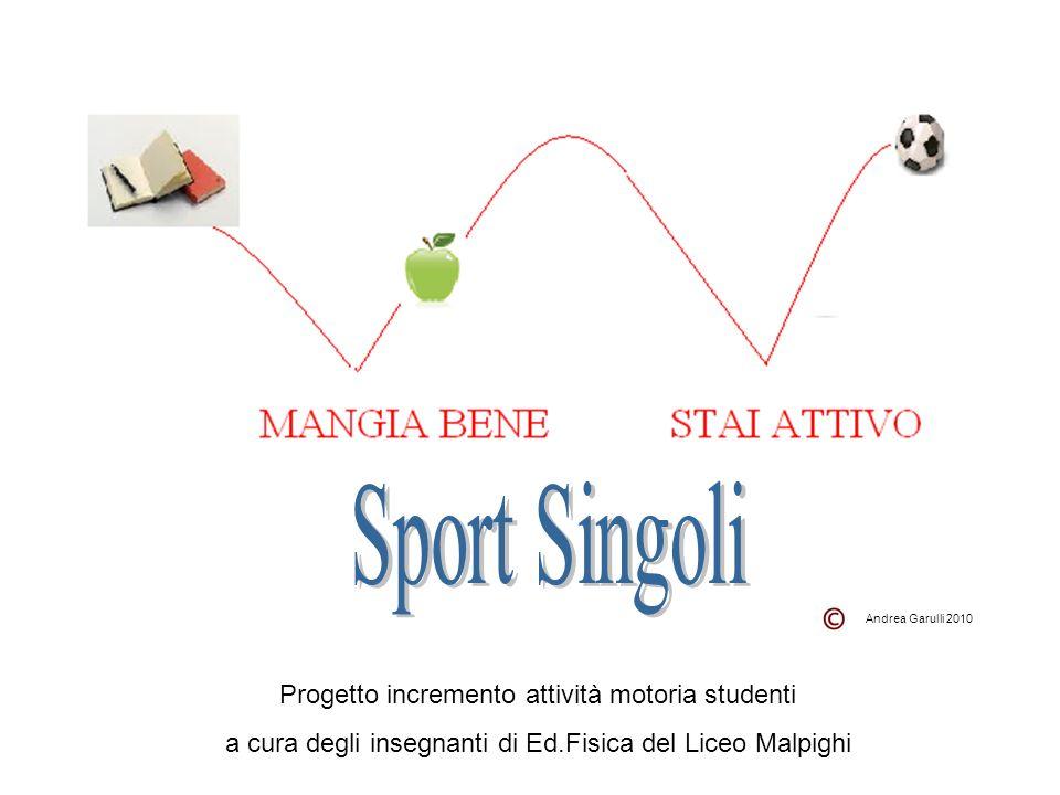 Progetto incremento attività motoria studenti a cura degli insegnanti di Ed.Fisica del Liceo Malpighi Andrea Garulli 2010