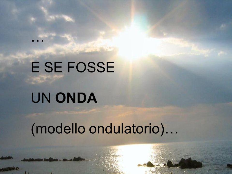… E SE FOSSE UN ONDA (modello ondulatorio)…