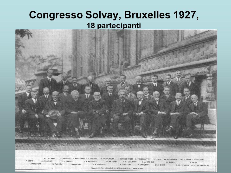 Congresso Solvay, Bruxelles 1927, 18 partecipanti