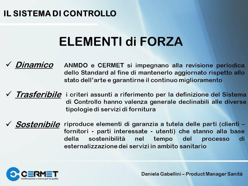 Daniela Gabellini – Product Manager Sanità IL SISTEMA DI CONTROLLO ELEMENTI di FORZA Dinamico Trasferibile Sostenibile riproduce elementi di garanzia