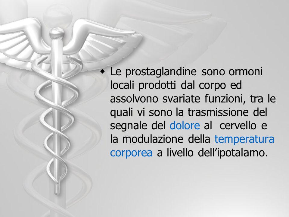 Le prostaglandine sono ormoni locali prodotti dal corpo ed assolvono svariate funzioni, tra le quali vi sono la trasmissione del segnale del dolore al
