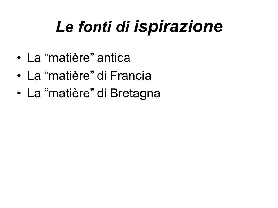 I generi letterari La letteratura epica Le chansons de geste La letteratura cortese La poesia Il romanzo