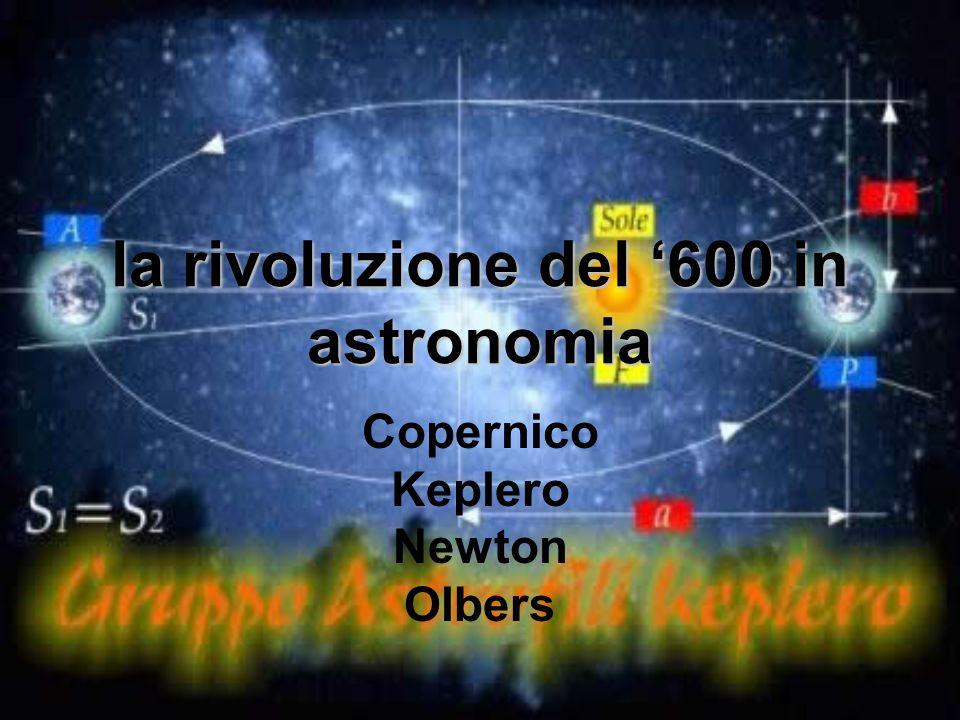 la rivoluzione del 600 in astronomia Copernico Keplero Newton Olbers