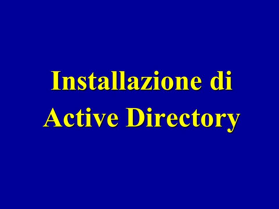 Sommario Schema logico e fisico di Active Directory Schema logico e fisico di Active Directory Infrastruttura di rete, schemi logici e schemi fisici Infrastruttura di rete, schemi logici e schemi fisici Installazione di Active Directory in un Domain Controller Installazione di Active Directory in un Domain Controller Creazione di una struttura ad albero (tree) Creazione di una struttura ad albero (tree) Creazione di una organizzazione di domini a foresta Creazione di una organizzazione di domini a foresta MMC di Active Directory MMC di Active Directory