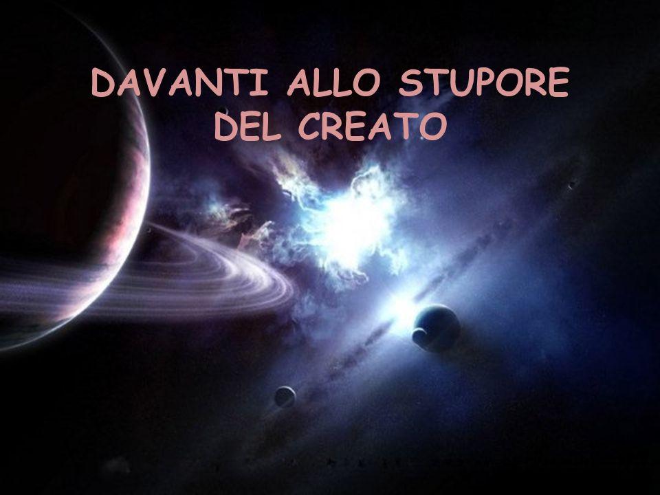 DAVANTI ALLO STUPORE DEL CREATO