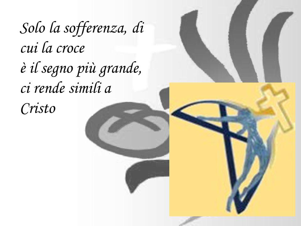 Solo la sofferenza, di cui la croce è il segno più grande, ci rende simili a Cristo