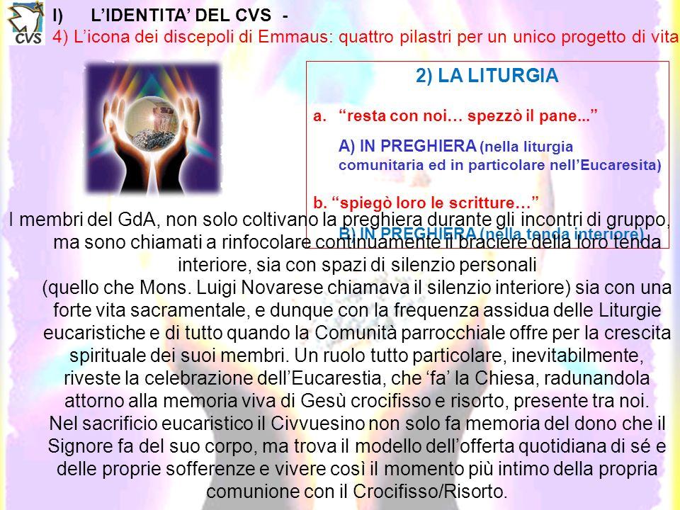 I)LIDENTITA DEL CVS - 4) Licona dei discepoli di Emmaus: quattro pilastri per un unico progetto di vita