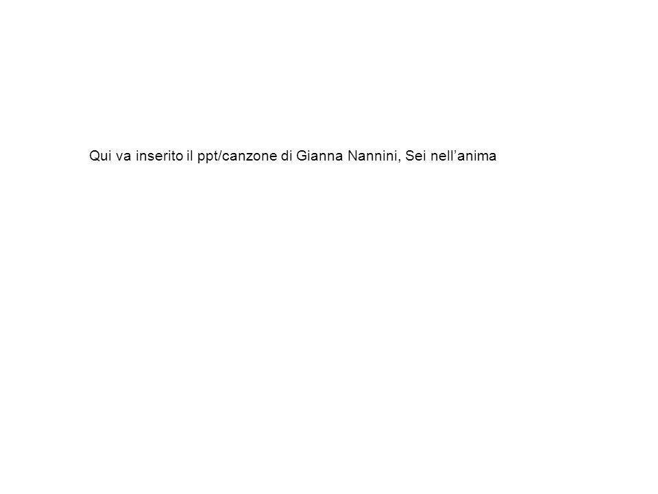 Qui va inserito il ppt/canzone di Gianna Nannini, Sei nellanima