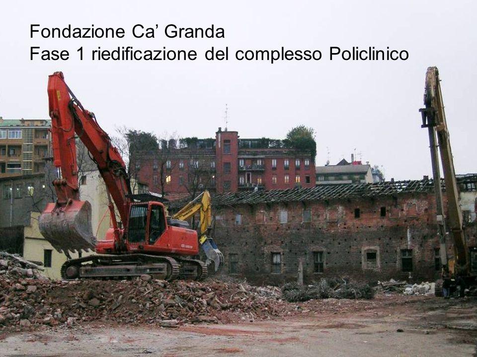 Fondazione Ca Granda Fase 1 riedificazione del complesso Policlinico