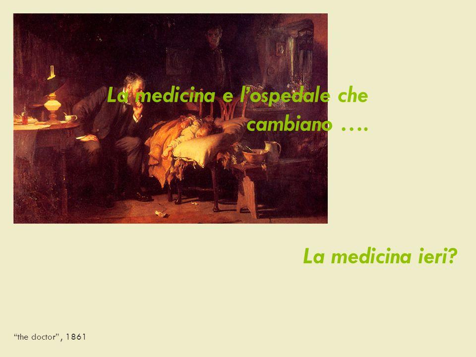 La medicina ieri? the doctor, 1861 La medicina e lospedale che cambiano ….