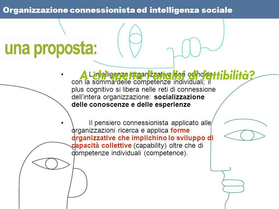 Lintelligenza organizzativa non coincide con la somma delle competenze individuali; il plus cognitivo si libera nelle reti di connessione dellintera o